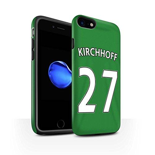 Offiziell Sunderland AFC Hülle / Matte Harten Stoßfest Case für Apple iPhone 7 / Jones Muster / SAFC Trikot Away 15/16 Kollektion Kirchhoff