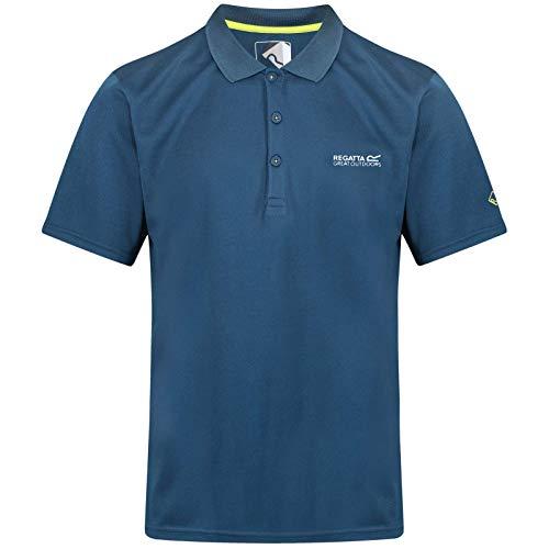 Regatta Herren Maverick IV Quick Drying Button Up Polo Shirt T, Majolica Blue, XXL