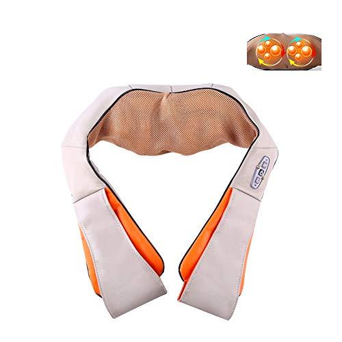 SHENGY U Shape Electrical Shiatsu Back Neck Shoulder Body Massager, Infrared Heated Kneading Car/Home Massagem for Neck and Shoulder Pain Relief,EU (Brookstone Massage-stuhl)