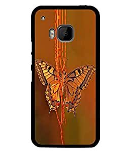 PrintVisa Designer Back Case Cover for HTC One M9 :: HTC One M9S :: HTC M9 (Animals Antenna Beauty Flower Blossom Bright Beautiful Butterfly)