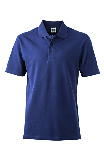 James & Nicholson Herren Poloshirt Basic Polo Blau (Navy)