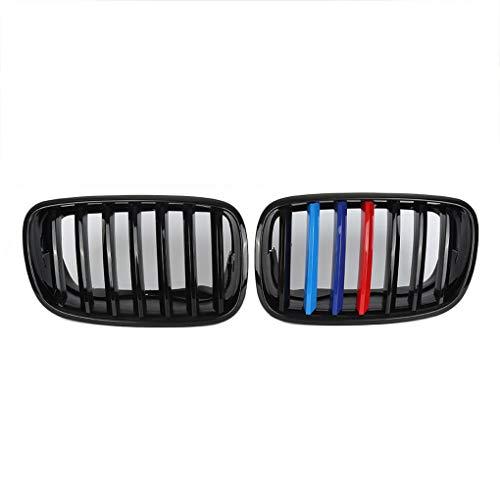 Ben-gi 1 Par Negro Brillante Delantero M Color riñón Parrilla para BMW X5 X6 x5m x6m E70 E71 08-13
