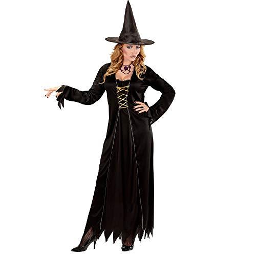 WIDMANN 00432 - Erwachsenenkostüm Hexe, Kleid mit Hexenhut, Gröߟe M, schwarz