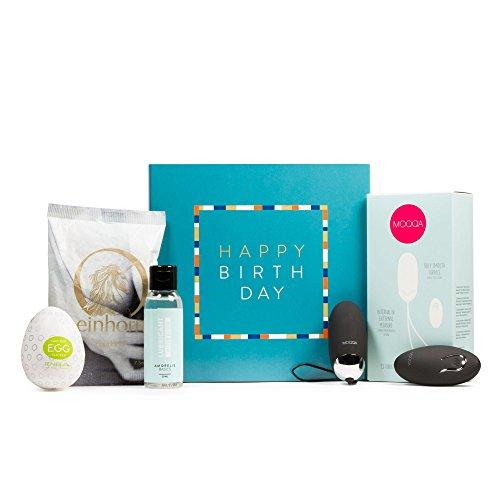 Geburtstags-Box für Paare inkl. Vibro-Ei mit Fernbedienung, Tenga Egg, Gleitgel und Kondom AMORELIE