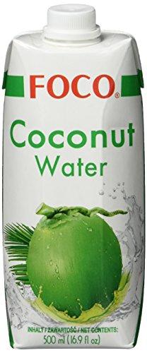 Foco Kokosnusswasser, Pur, 100 % natürlich, 12er Pack (12 x 500 ml) (100% Natürliches Kokosnusswasser)
