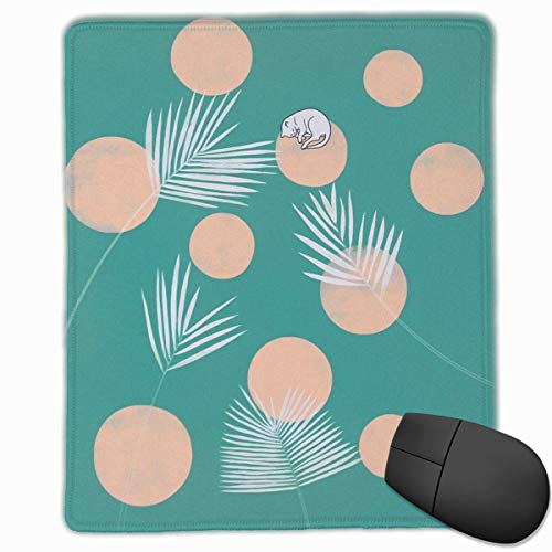 Dots Rectangle Non-Slip Rubber Mouse Pad with Stitched Edges -