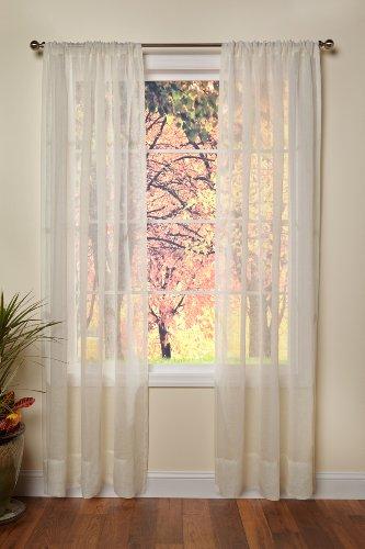 Baumwolle Craft–Original PURE 100% Leinen Rod Tasche Fenster Elementen–Ein Paar–handgefertigt & Hand genäht Durchscheinendes Leinen-Paneele–großzügiger 6im Saum–Genießen Sie das anspruchsvolles Luxus von reinem Leinen, Sonstige, elfenbeinfarben, 54 x 84 (Vorhang-set Halloween-dusche)