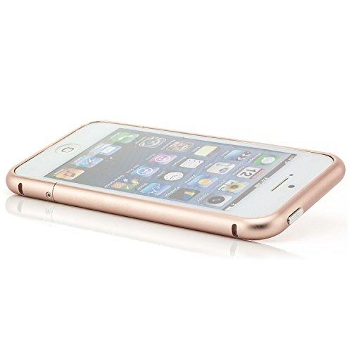 Saxonia Aluminium Bumper Apple iPhone 5 5S SE Slim Alu Case Schutz Hülle Rahmen Rose Gold