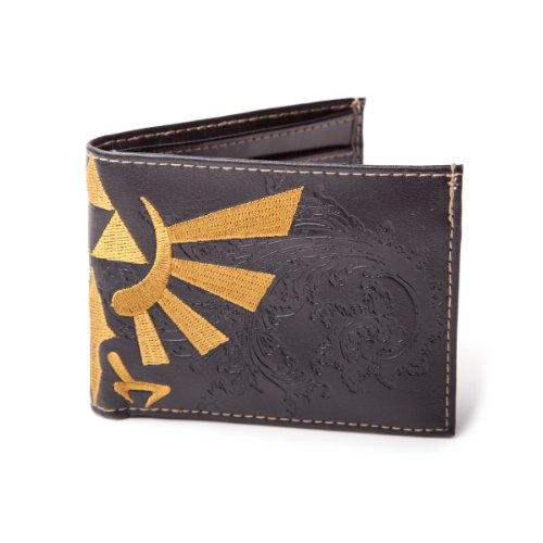 Nintendo Zelda Triforce Bird logo ufficiale nuovo nero Bifold portafoglio