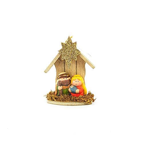 General trade presepe completo set presepio natività capanna da appendere presepe dietroporta fuoriporta paesaggio completo natalizio addobbo decorazioni natalizi ornamento casa natale