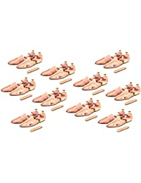 10 Paar Schuhspanner aus Zedernholz ( für Herren und Damen ) inkl. Reiseschuhlöffel aus Zedernholz, Langer & Messmer, Größe 34 bis 50, das Original!