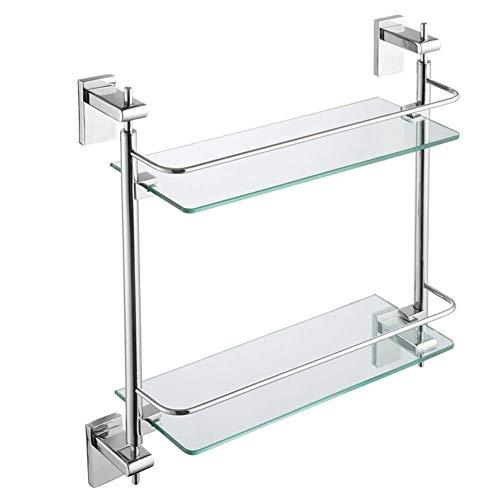 ZWBD Bathroom Storage Shelf/Badezimmer-Rack Organizer Teleskop Regal Edelstahl Storage Rack Duschraum Badezimmer Trennwand (Farbe: Silber) (Color : Silver)