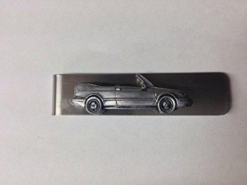 edelstahl-geld-clip-mit-a-saab-93-cabrio-ref228-3d-zinn-effekt-emblem