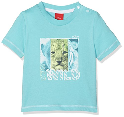 s.Oliver Baby-Jungen T-Shirt Kurzarm, Blau (Light Blue 6143), 92