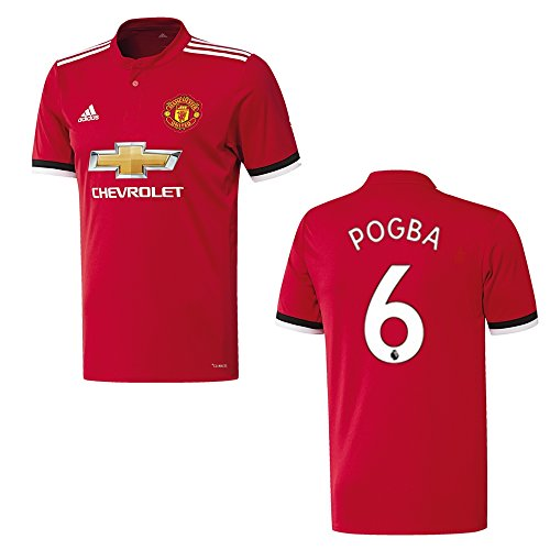 MANCHESTER UNITED Trikot Home Kinder 2018 - POGBA 6, Größe:176 (Home United Trikot)