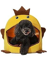 Caseta Canina Canina para Perros de Doble Uso Casa para Mascotas Cuatro Temporadas Bandeja de la