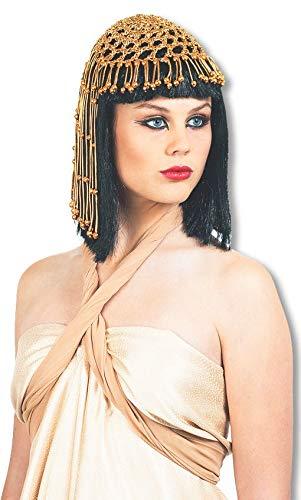 Sphinx Kostüm - Horror-Shop Ägytische Königin Perücke Deluxe mit Kopfschmuck