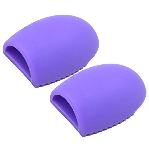 Vococal® 2 Pcs Laver Pad Outils pour Pinceau Cosmétique,Silicone,Violet