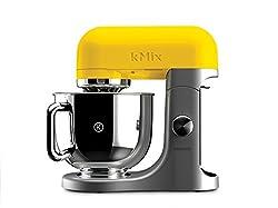 Kenwood kMix KMX50YW Yellow Food Processor, Stand Mixer 5 L, 500 W, 220V, Stainless Steel Bowl