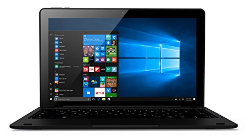 Odys Fusion Win 12 Pro 2in1 29,5 cm (11,6 Zoll) Tablet-PC (Intel Atom Quadcore x5-Z8350, Full-HD IPS Display, 4GB RAM, 32GB Flash HDD, Win 10, Micro HDMI, Micro-USB Anschluss) schwarz (Intel-internet-karte)
