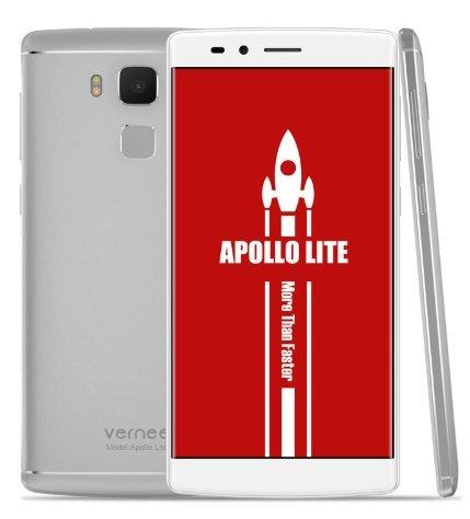 Vernee Apollo Lite 4G Smartphone Android - MT6797 Deca-core da 2,3 GHz 4 GB + 32 GB, schermo FHD da 5,5 pollici (1920 * 1080), Metallo Uni-body super sottile, fotocamera doppia da 5 MP + 16 MP, doppia SIM / impronta digitale / GPS - Argento