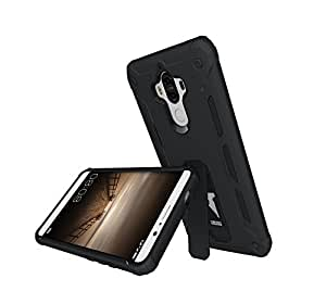 YHUISEN Huawei Mate 9 Caso, fresco antiurto Armatura ibrida 2 in1 TPU e PC rugged Dual Layer con Kickstand di caso per Huawei Mate 9 ( Color : Black )