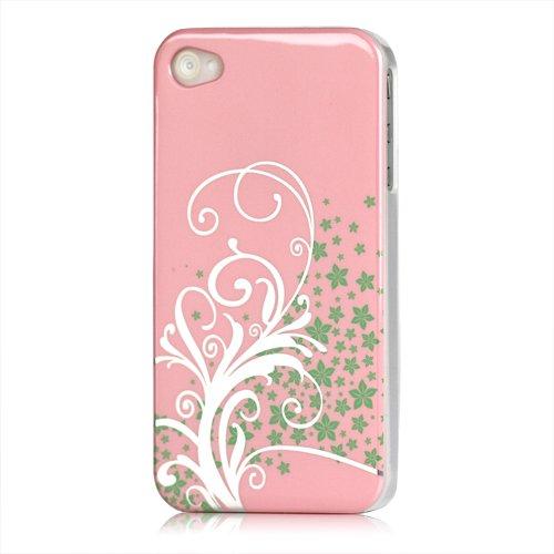 [A4E] Coque rigide, Coque pour Apple iPhone 4(4G/4S), divers motifs Tribal pink weiß