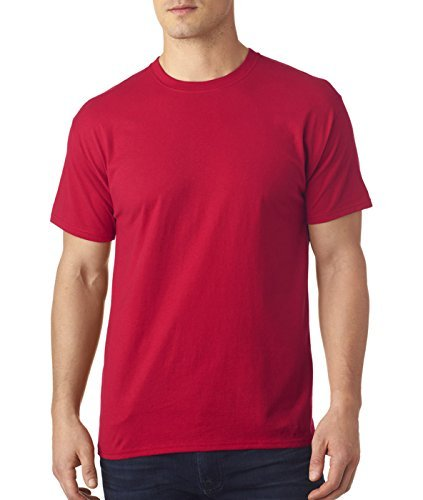 Hanes Herren S/S x-temp Tee Short Sleeve Shirt Gr. Small, 1 Charcoal Heather/1 Deep Red (Heather Deep Charcoal)