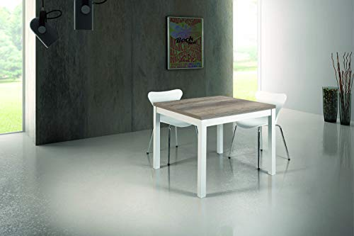 Fashion Commerce FC839 Tavolo Allungabile, Legno, 90x90 cm