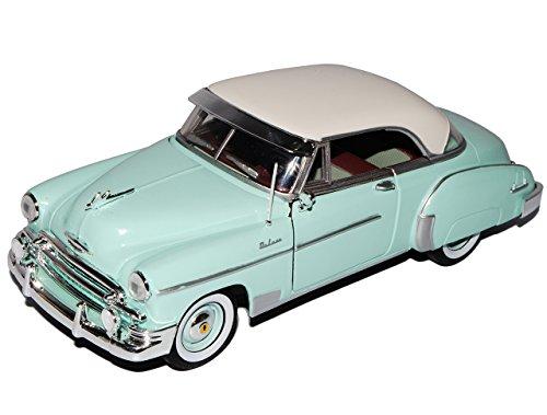 Chevrolet Chevy Bel Air Coupe Grün 1950 Oldtimer 1/24 Motormax Modell Auto mit individiuellem Wunschkennzeichen
