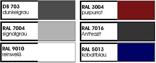 Resorti Mülltonnenbox Quadra 2-4 Mülltonnen mit 120 / 240 Liter Volumen Feuerverzinkt und Pulverbeschichtet inkl. Kippvorrichtung und Pflanzdach … (3 x 240 Liter, Anthrazit RAL7016) - 6