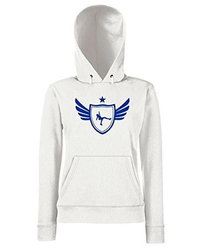 T-Shirtshock - Sweats a capuche Femme SP0049 Climber Star Maglietta Blanc