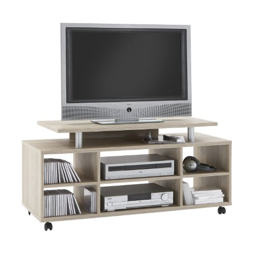 FMD Variant-21 TV/Hi-Fi Unit, 118 x 57 x 50 cm, Canadian Oak
