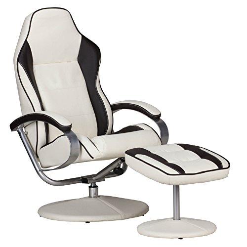 Amstyle SPM Gaming Sessel mit Fußablage