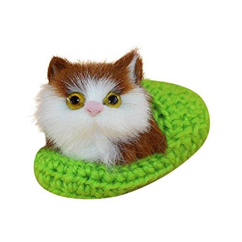 Wohnaccessoires Nette Plüsch Katze weiches Tier spielt Puppe lebensechte Simulation Kinder Mädchen Weihnachtsgeschenk Stimmungslichter Weitere Küche Haushalt Wohnen Wohnaccessoires Deko