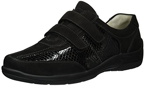 Pantofola Esca Esile Nera (nabuk-morbido Acciaio-boa Nero)