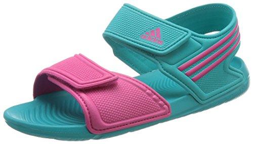Adidas Mädchen Akwah 9 K Peep-Toe, Mehrfarbig (Shogrn/Eqtpin/Shogrn), 31 EU