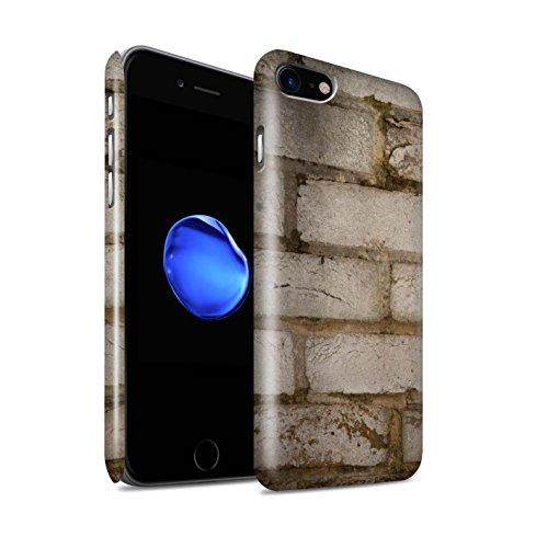 STUFF4 Glanz Snap-On Hülle / Case für Apple iPhone 8 / Alt/Gelb Muster / Mauerwerk Kollektion Blass/Weiß