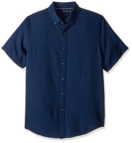 nautica-mens-solid-slim-fit-casual-shirt-marine-blue-xl