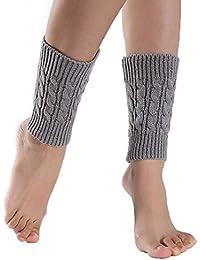 GTKC las Mujeres de las Ni?as corto Calentadores de la Pierna de Crochet Tejer Calcetines de Arranque