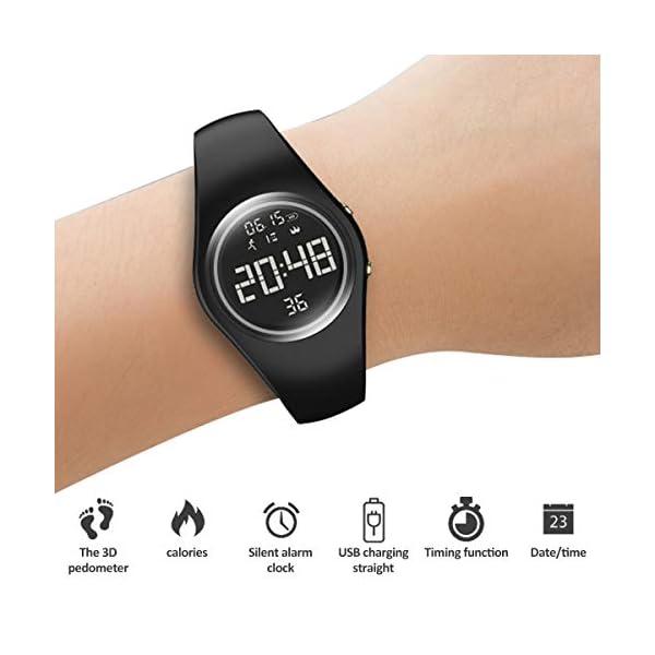 RCruning-EU Pulsera Actividad Impermeable IP68 Fitness Smartwatch Tracker Contador de Pasos, Contador de Calorías… 2
