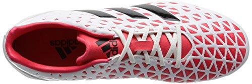 adidas Kakari Elite SG, Chaussures de Rugby Homme, Noir, UK Blanc Cassé - Blanco (Ftwbla / Negbas / Rojimp)