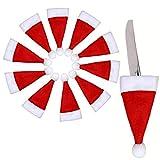 Angoter 10 Sacchetti Regalo Candy Hat Posate Borsa PCS Natale Carino Porta Pocket Forcella Cutter Dinner Table Decoration JAN88