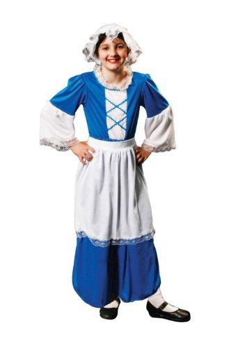 Dienstmädchen Alte Kostüm - Tudor Mädchen blaue Kostüm Alter 7-9 Jahren
