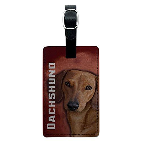 Dackel, Weiner Hund Pet Leder Gepäck ID Tag Koffer Handgepäck (Weiner Dackel)