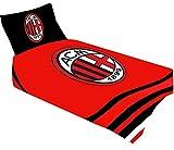 AC. Milan Bettwäsche-Set für Einzelbett, offizielles Fußball-Geschenk