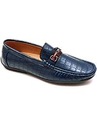 AK collezioni Mocassini uomo estivi blu casual eleganti scarpe man s shoes  in ecopelle 14371e9a510
