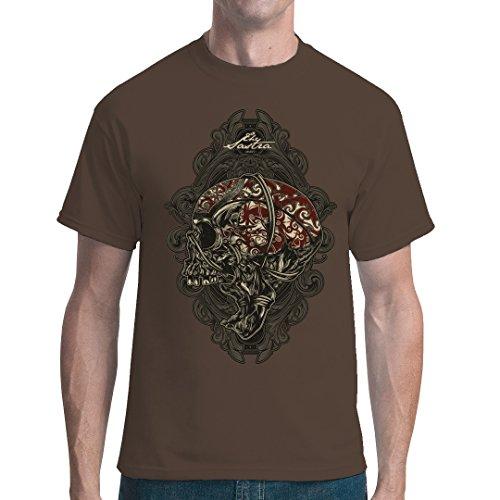 Gothic Fantasy unisex T-Shirt - Head Hunter Schädel by Im-Shirt - Bear Brown 5XL (Schädel-brown-t-shirt)