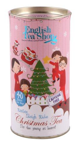 English Tea Shop - Christmas Tea - Organic Rooibos Sleigh Ride - 60g (Pack of 3)