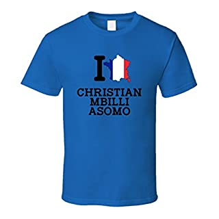 I Love Christian Mbilli Asomo France Boxing Olympics T Shirt Small